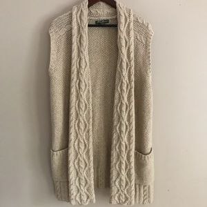 EDDIE BAUER Sleeveless Cable Knit Cardigan - XXL